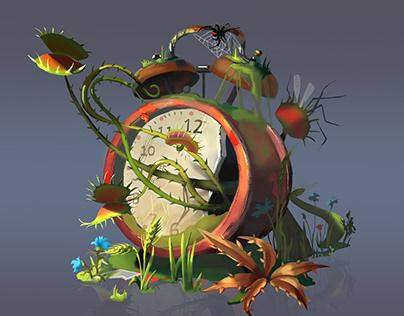 Clock with alarm