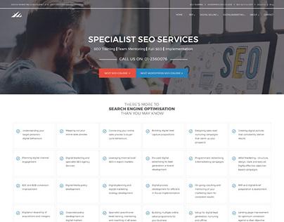 Website design for digital marketing solution provider.
