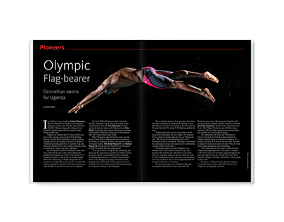 Olympic Flag-bearer – magazine feature design