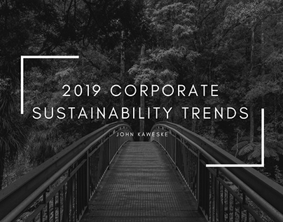 2019 Corporate Sustainability Trends