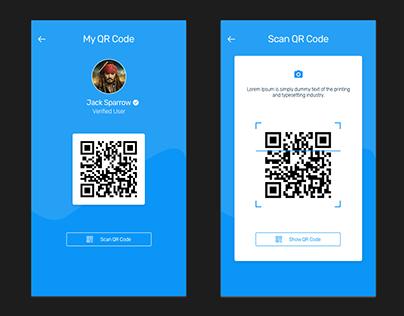 Scanning QR Code- UI Design