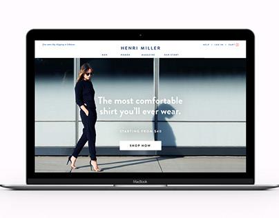 Henri Miller – fashion startup branding & web design
