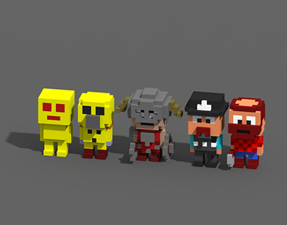 Voxel characters 1-5