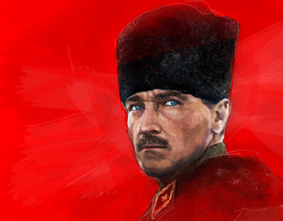 "ATATÜRK ""KIRMIZI/RED"" DIGITAL PAINTING MIX MEDIA 2018"