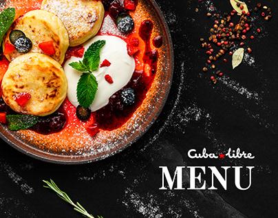 CUBA LIBRE   Restaurant & Bar menu