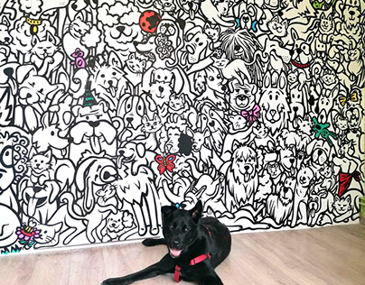 Mural Project for Gourmet Pet Treats Store 'Mimus'