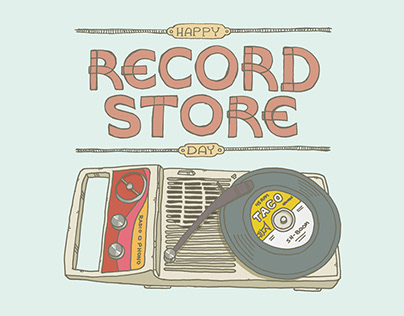 Record Store Day Illustrations