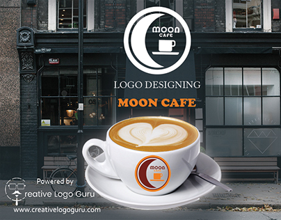 Logo Designing Project Moon Cafe #coffe #cafe #recipes