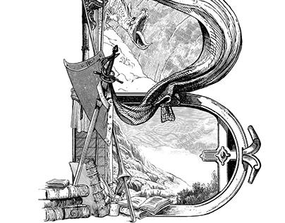 Initials for Don Quixote de la Mancha