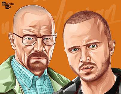 Breaking Bad Artwork (walter white jesse pinkman)