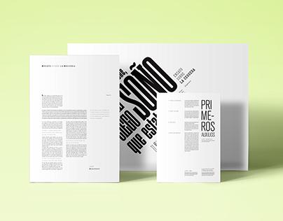 Editorial - Puestas tipográficas