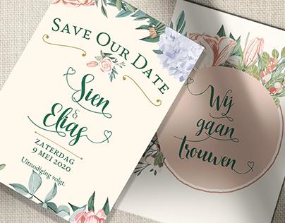 Wedding: invitation, logo...
