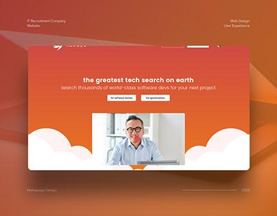 IT Recruitment Website Concept