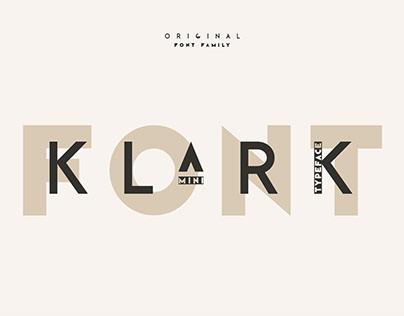 Klark. Sans serif font family.