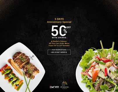 Anniversary Special Social Media ad