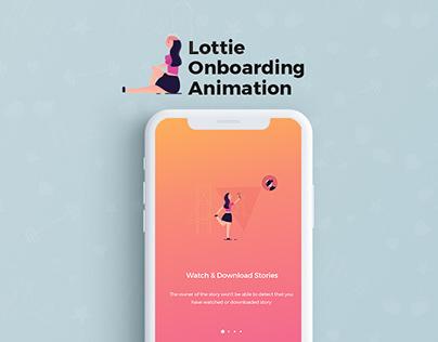Lottie Onboarding Animation