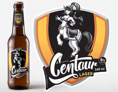 Centaur Lager, Craft Beer Branding