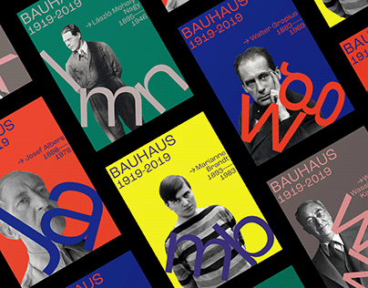 Another Poster Series for the 100th Years of Bauhaus