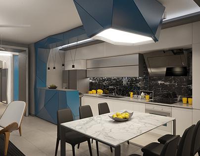 contemporary apartment in Sofia