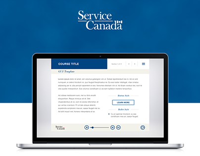 Graphical User Interface e-Learning - Service Canada