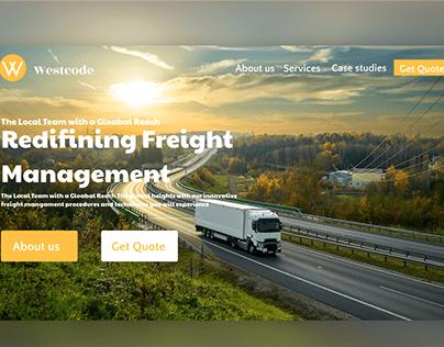 Freight management website