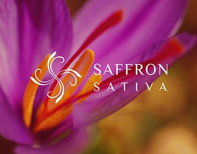 Saffron Sativa Logo Design