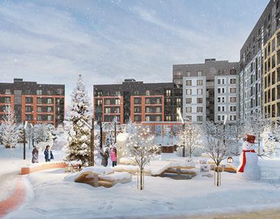 Visualization of the residential area A100 development