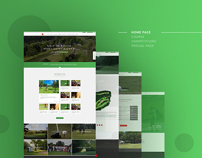 Golf Website in Normandy, France