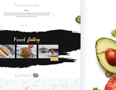 PERUVIAN CUISINE RESTAURANT - web design&development