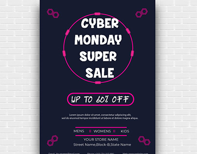 Cyber Monday Sale Flyer Design-1