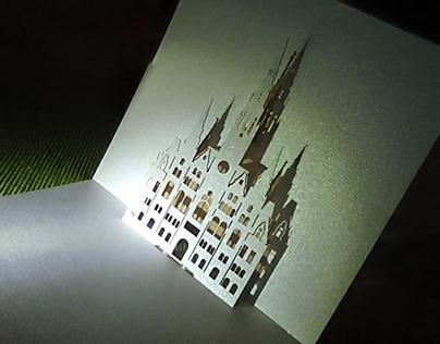 laserový výřez z papíru