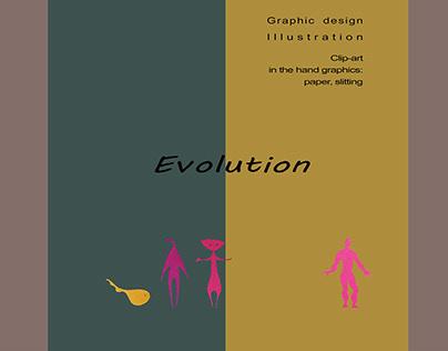 Clip-art «Evolution»/paper splitting