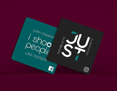 JUST Studio Business Card design