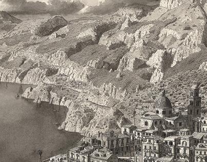 Town by the Amalfi Coast