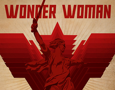 """Wonder Woman 1984"" in Soviet style"