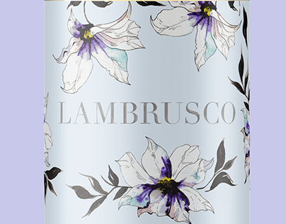FLORAL LABEL ILLUSTRATION
