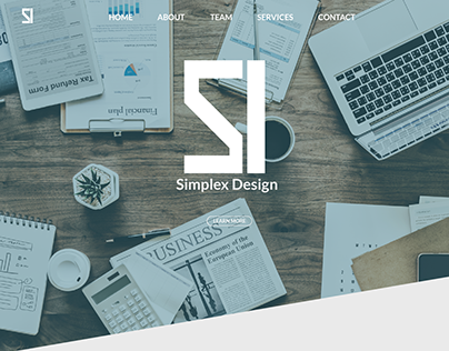 Simplex Design Fake Web Design Mockup