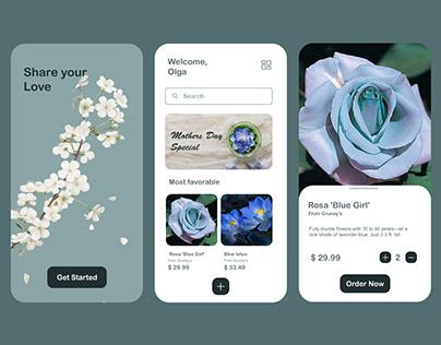 Flower Shop App Design