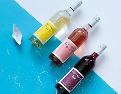 Label - Design - wine - Bodensee ~ Rot ~ Weiß ~ Rosé ~