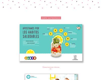 Diseño gastronómico - comunicaciones internas