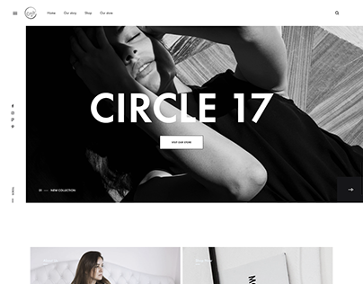 Website for Circle 17 Fashion Store in Lake Como/Italy