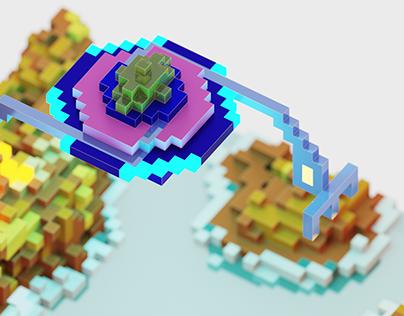 Alien Ship - 3D art
