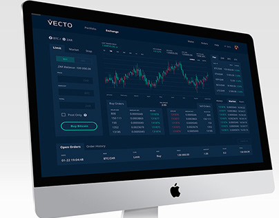 Fintech - Cryptocurrency exchange / trading page UI