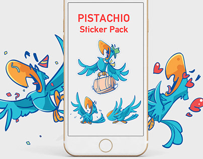 Pistachio Stickers