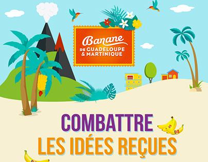 Infographie Banane de Guadeloupe & Martinique