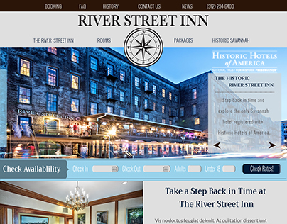 Website Design - River Street Inn