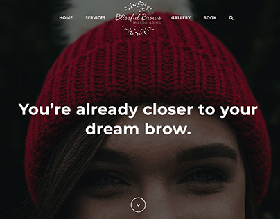 Blissful Brows Website