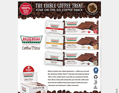 Krispy Kreme coffee Thins Sell Sheet