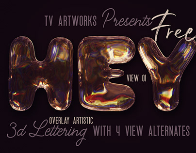 Free Overlay & Artistic 3D Lettering