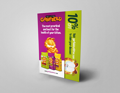 Folder and Flyer - Garfield Cat Litter